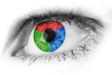 human eye with multi-color retina